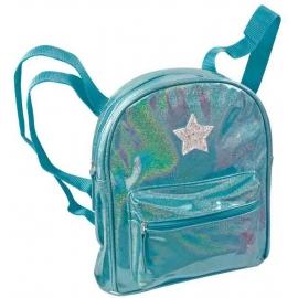 Hologramm Rucksack blau