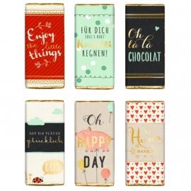Glücks-Schokolade 30 g, sortiert Viel Glück