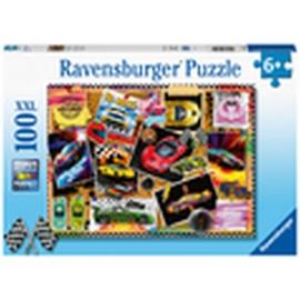 Ravensburger 12899 Puzzle Rennwagen Pinnwand 100 Teile XXL