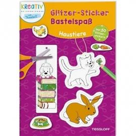 Tessloff - Glitzer-Sticker Bastelspaß - Haustiere