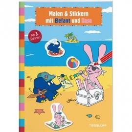 Tessloff - Malen & Stickern mit Elefant und Hase