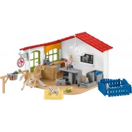 Schleich Farm World 42502 Tierarzt-Praxis mit Haustieren