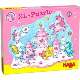 HABA® - Puzzle Einhorn Glitzerglück - Wolkenpuzzelei, 20 Teile