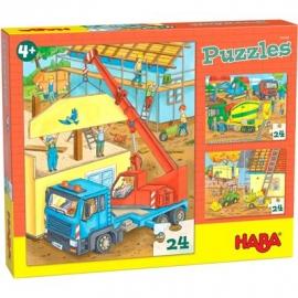 HABA® - Puzzle Auf der Baustelle, 20 Teile