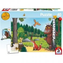 Schmidt Spiele - Der Grüffelo - Kinderpuzzle mit Turnbeutel, 40 Teile