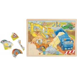GoKi Einlegepuzzle Baustelle
