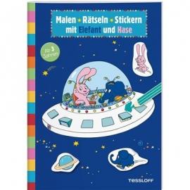 Tessloff - Malen-Rätseln-Stickern mit Elefant und Hase