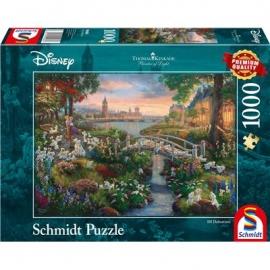 Schmidt Spiele - Puzzle - 101 Dalmatiner, 1000 Teile