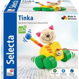 Schmidt Spiele - Selecta - Tinka, Nachzieh Katze, 12 cm