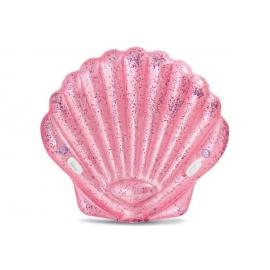 Badeinsel Muschel pink, ca. 178 x 165 cm