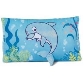 NICI - Summer - Kissen Delfin Del-Finchen rechteckig 43x25 cm