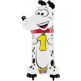 Zahl 1 Hund 102 cm / Number 1 Dog 40