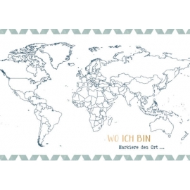 Eintragbuch mit Sammeltasche: Mein Reise