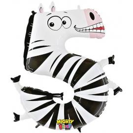 Zahl 5 Zebra 102 cm / Number 5 Zebera 40