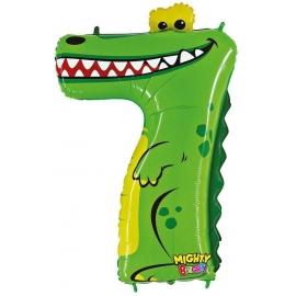 Zahl 7 Krokodil 102 cm / Number 7 Crocodile 40