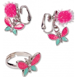 Schmuckset Ohrclips & Ring Prinzessin Lillifee