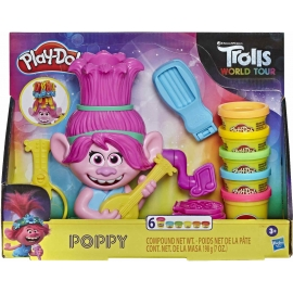 Hasbro - Play-Doh Trolls World Tour Frisierspaß Poppy