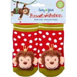 Die Spiegelburg - BabyGlück - Rasselsöckchen Affe
