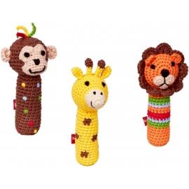 Die Spiegelburg - Baby Glück - Minirassel, Affe, Giraffe, Löwe