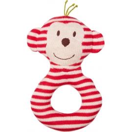 Ringrassel Affe BabyGlück, rot