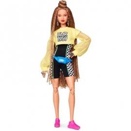 Mattel - Barbie BMR1959, voll bewegliche Barbie Modepuppe mit geflochtenem Haar
