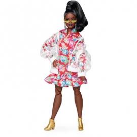 Mattel - Barbie BMR1959, voll bewegliche kurvige Barbie Modepuppe, brünett