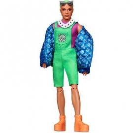 Mattel - Barbie BMR1959, voll bewegliche Ken Modepuppe mit neonfarbenem Haar