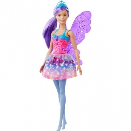 Mattel - Barbie Dreamtopia - Fee lila Haare Puppe mit Flügeln