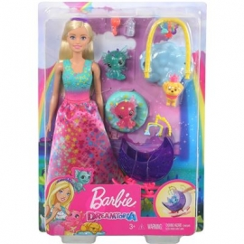 Mattel - Barbie Dreamtopia - Drachen-Kindergarten Spielset