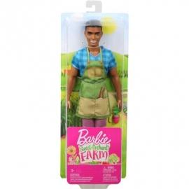 Mattel - Barbie - Spaß auf dem Bauernhof Ken Puppe mit Gartenschürze
