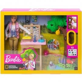 Mattel - Barbie - National Geographic - Insektenforscherin Puppe und Spielset