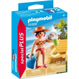 Playmobil® 70300 - Special Plus - Urlauberin mit Liegestuhl
