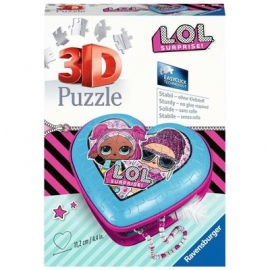 Ravensburger Spiel - 3D Puzzle - Herzschatulle - LOL Surprise, 54 Teile