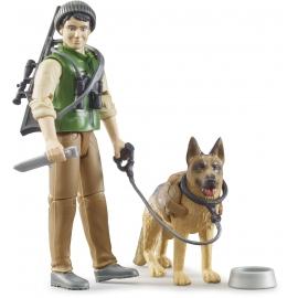 Bruder - bworld Förster mit Hund und Ausrüstung