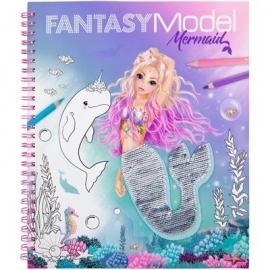 Depesche - Fantasy Model - Malbuch Streichpaillette Mermaid