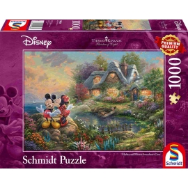 Schmidt Spiele - Puzzle - Sweethearts Mickey & Minnie, 1000 Teile