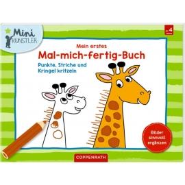 Coppenrath Verlag - Mini-Künstler - Mein erstes Mal-mich-fertig-Buch
