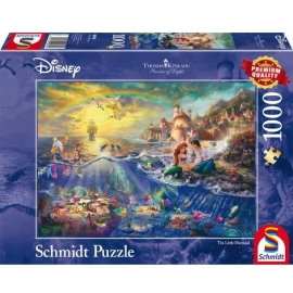 Schmidt Spiele - Puzzle - Kleine Meerjungfrau Arielle, 1000 Teile