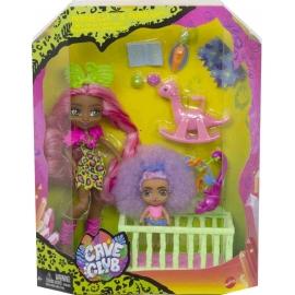 Mattel - Cave Club Babysittingspaß Spielset mit 2Puppen und Zubehör