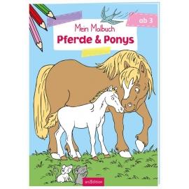 Malbuch ab 3 Jahren - Pferde & Ponys