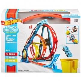 Mattel - Hot Wheels® Track Builder Unlimited Looping-Set, Autorennbahn inkl. 1 Spielzeugauto