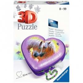 Ravensburger Spiel - 3D Puzzle Herzschatulle Pferde