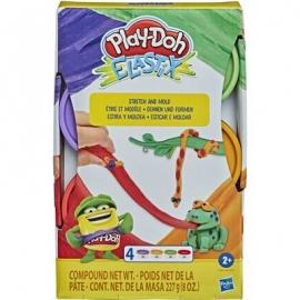 Hasbro - Play-Doh - Elastix Spielknete 4er-Pack Sortiment
