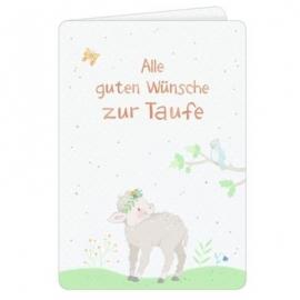 Coppenrath Verlag - Grußkarte Alle guten Wünsche zur Taufe, Schäfchen