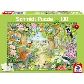 Schmidt Spiele - Tiere im Wald, 100 Teile