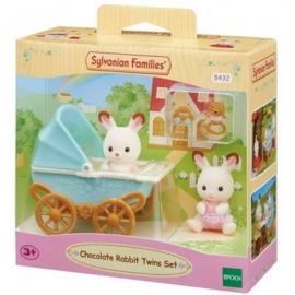 Sylvanian Families - Schokoladenhasen Zwillinge mit Kinderwagen