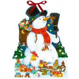 Der glückliche Schneemann, Wand-Adventskalender