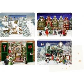 Zauberhafte Weihnachtszeit, Mini-Adventskalender-sortiert (Behr)