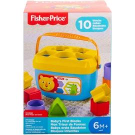 Mattel - Fisher-Price Babys erste Bausteine, Motorikwürfel, Steckspiel, Bauklötze, Steckwürfel