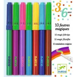 Djeco - 3-6 Design by - 10 magic felt tips